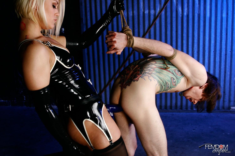 image Ash hollywood femdom strapon ballbusting cbt chastity