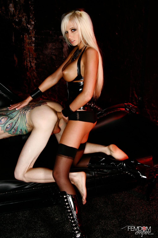 Mistress strap on fucks her male sub 5